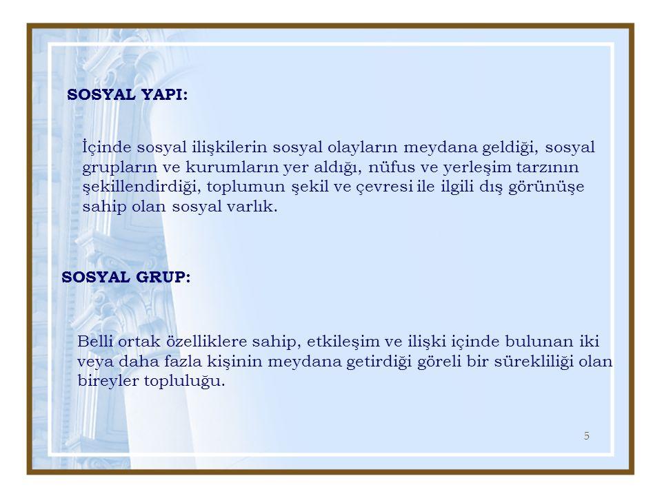 SOSYAL YAPI: