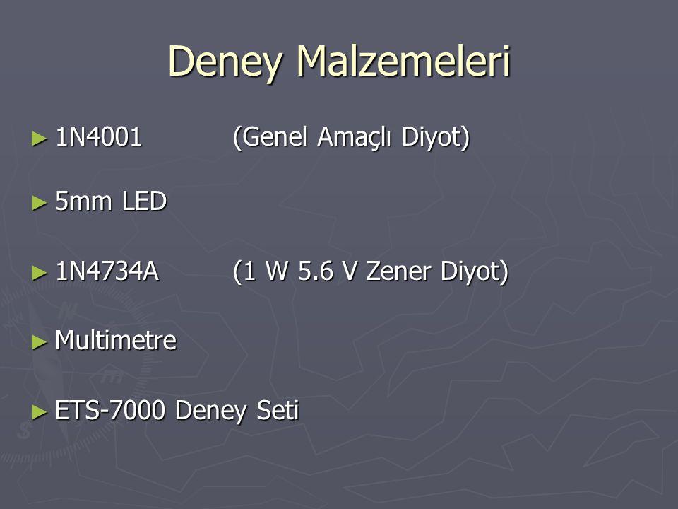 Deney Malzemeleri 1N4001 (Genel Amaçlı Diyot) 5mm LED