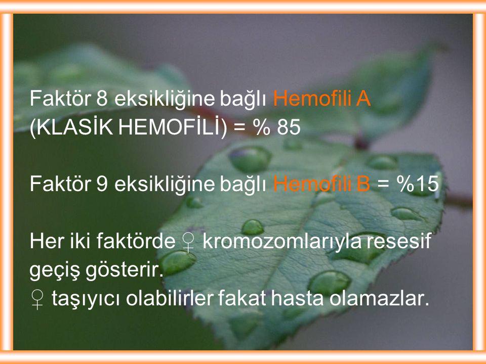 Faktör 8 eksikliğine bağlı Hemofili A