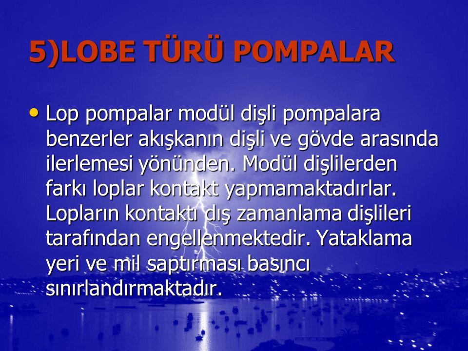 5)LOBE TÜRÜ POMPALAR