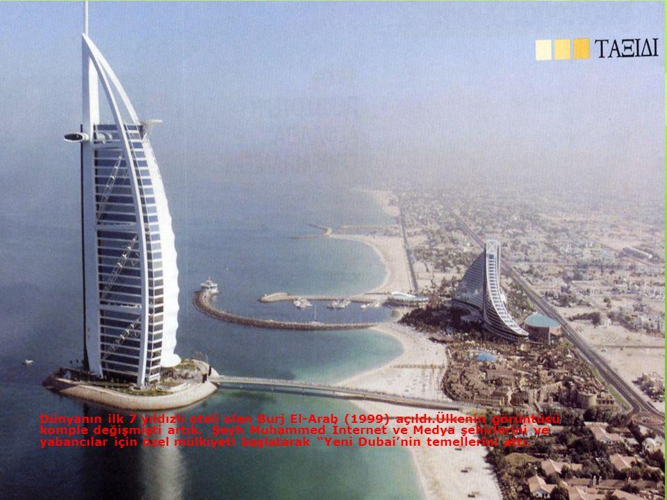 Dünyanın ilk 7 yıldızlı oteli olan Burj El-Arab (1999) açıldı