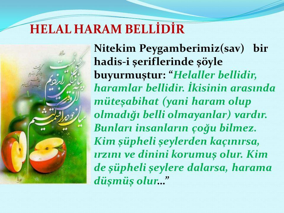 HELAL HARAM BELLİDİR