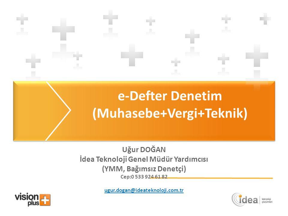 e-Defter Denetim (Muhasebe+Vergi+Teknik)