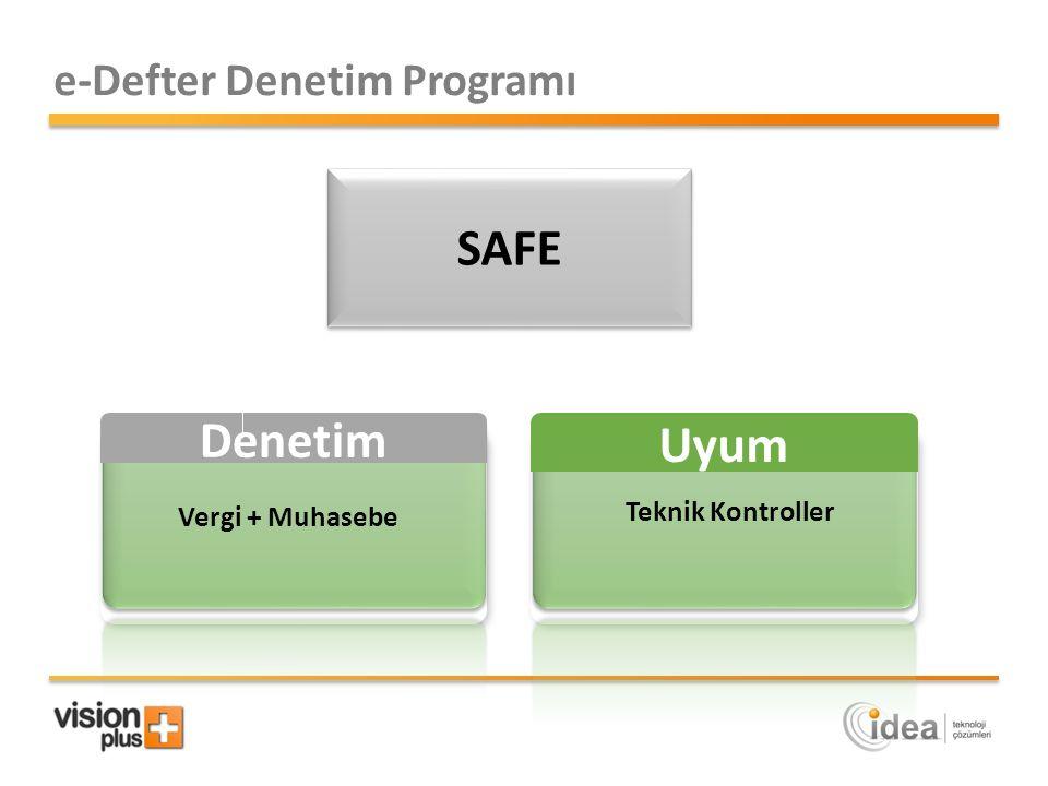SAFE Denetim Uyum e-Defter Denetim Programı Teknik Kontroller