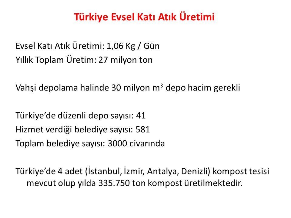 Türkiye Evsel Katı Atık Üretimi