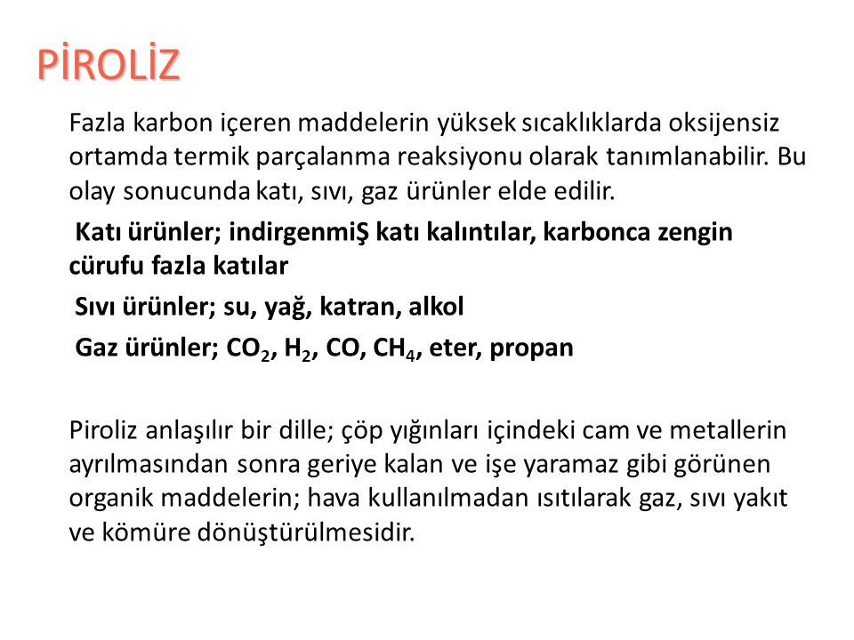 PİROLİZ