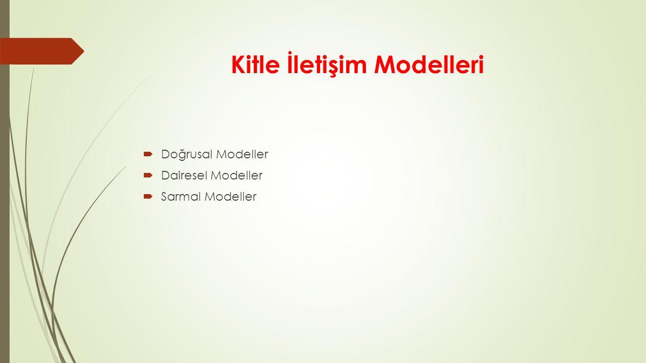 Kitle İletişim Modelleri
