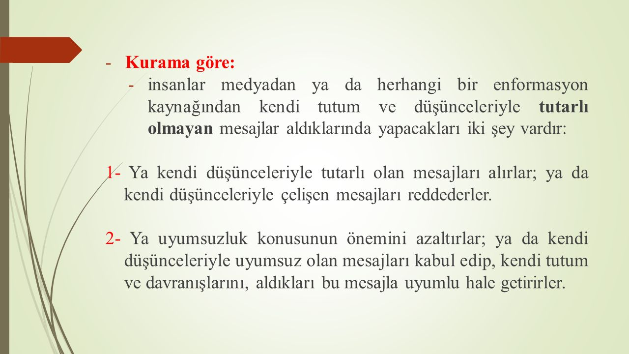 Kurama göre: