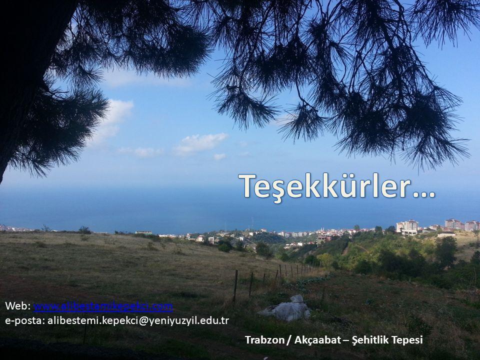 Teşekkürler… Web: www.alibestamikepekci.com. e-posta: alibestemi.kepekci@yeniyuzyil.edu.tr.