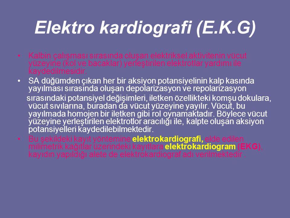 Elektro kardiografi (E.K.G)