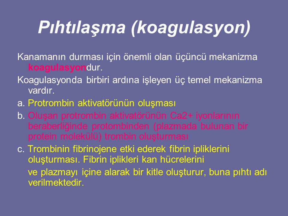 Pıhtılaşma (koagulasyon)