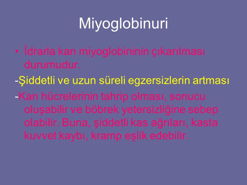 Miyoglobinuri İdrarla kan miyoglobininin çıkarılması durumudur.