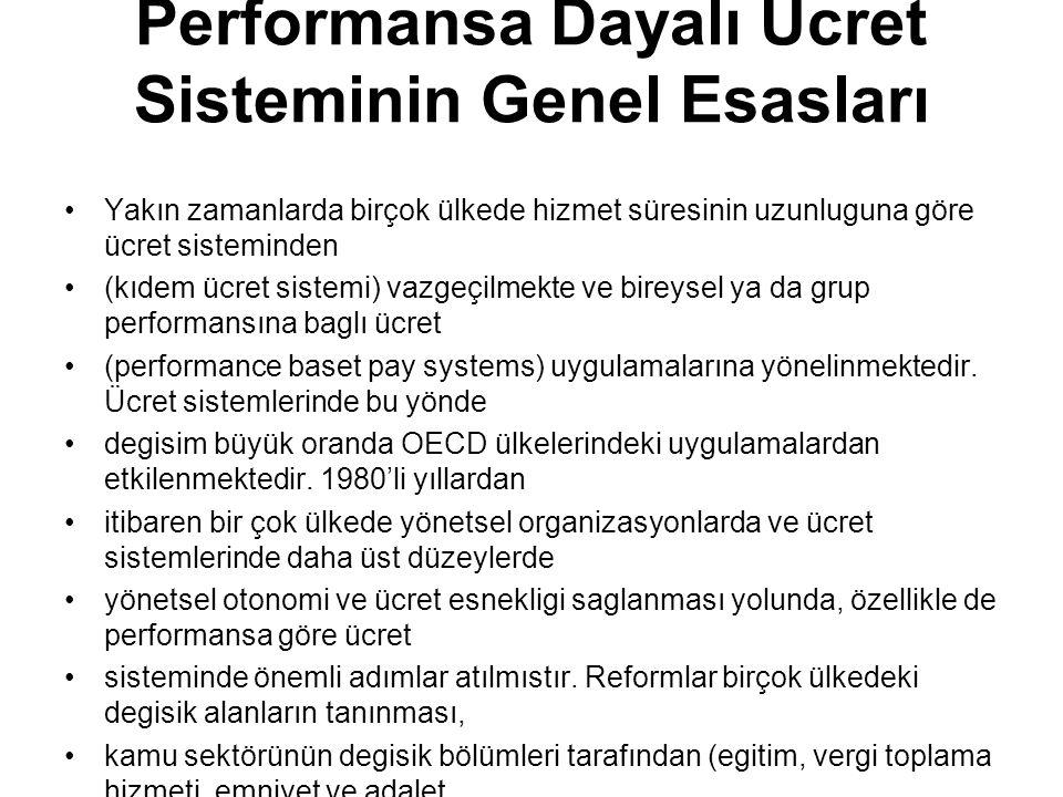 Performansa Dayalı Ücret Sisteminin Genel Esasları