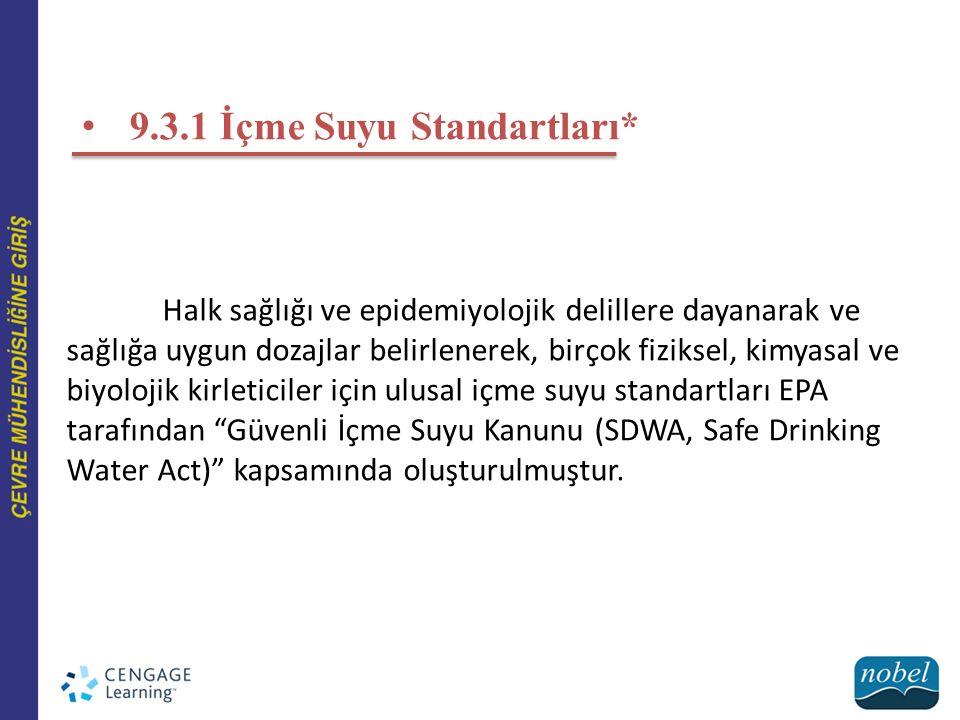 9.3.1 İçme Suyu Standartları*
