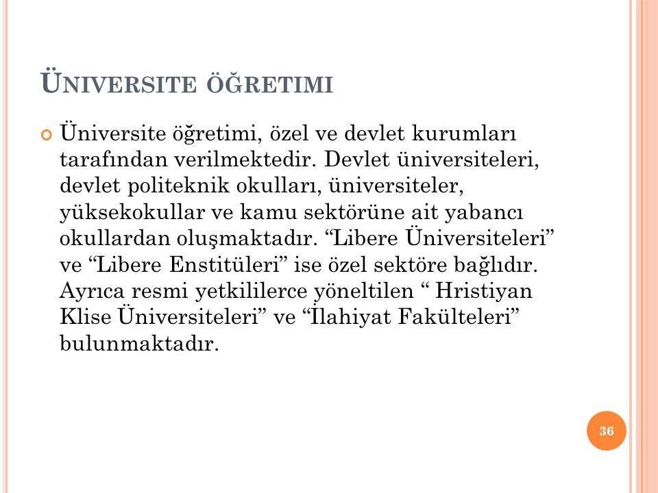 Üniversite öğretimi
