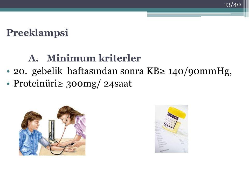 Preeklampsi A. Minimum kriterler. 20.
