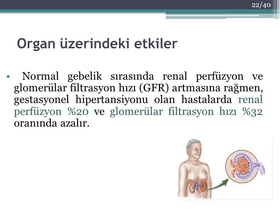 Organ üzerindeki etkiler