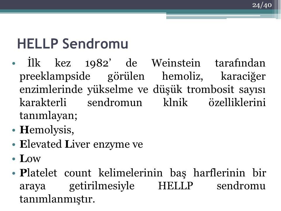 HELLP Sendromu