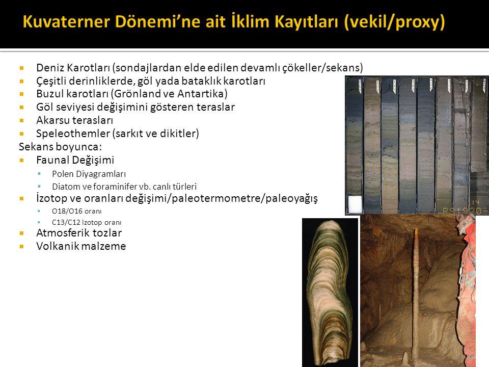 Kuvaterner Dönemi'ne ait İklim Kayıtları (vekil/proxy)