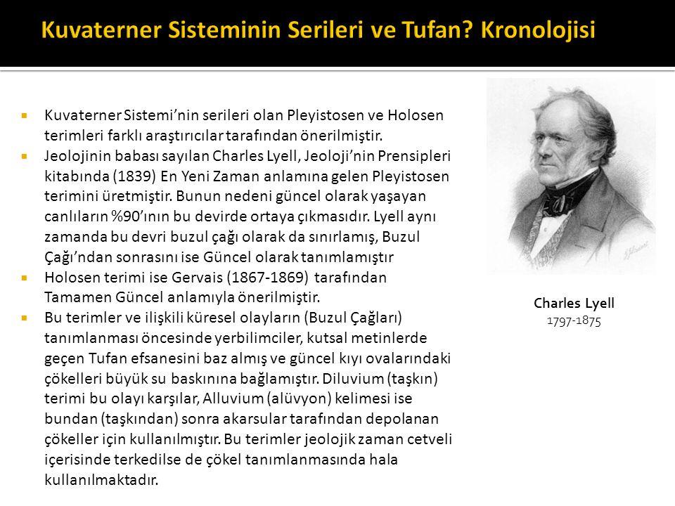 Kuvaterner Sisteminin Serileri ve Tufan Kronolojisi