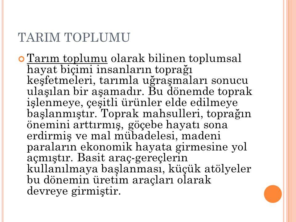 TARIM TOPLUMU