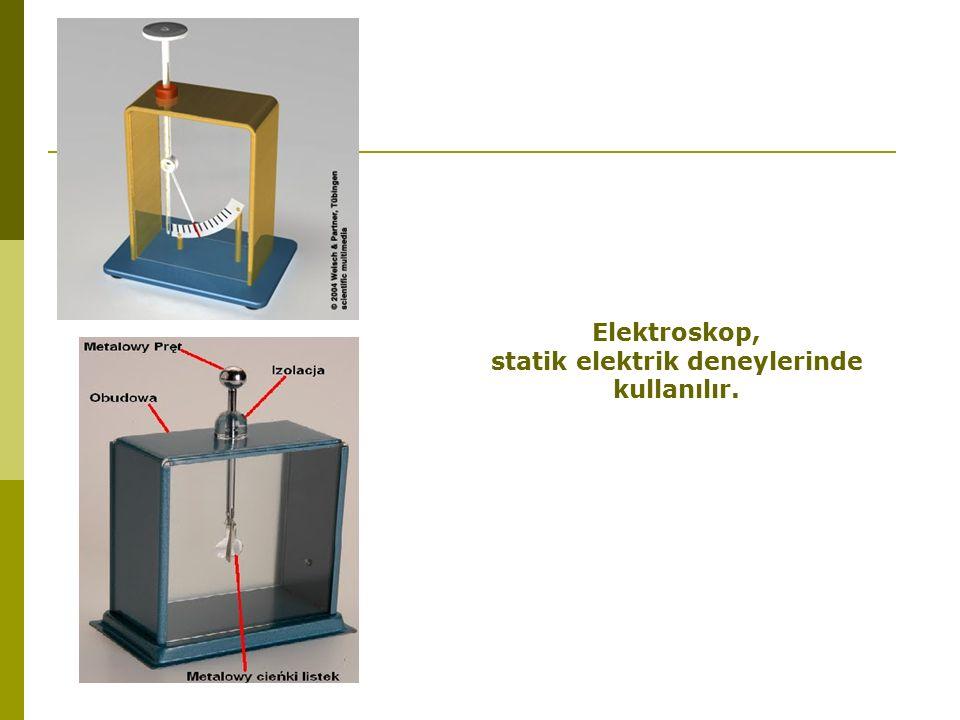 statik elektrik deneylerinde kullanılır.