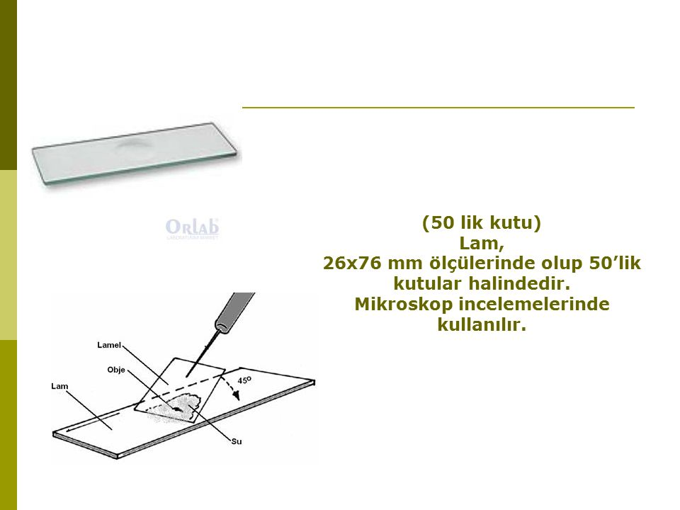 26x76 mm ölçülerinde olup 50'lik kutular halindedir.