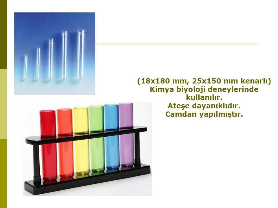 Kimya biyoloji deneylerinde kullanılır.