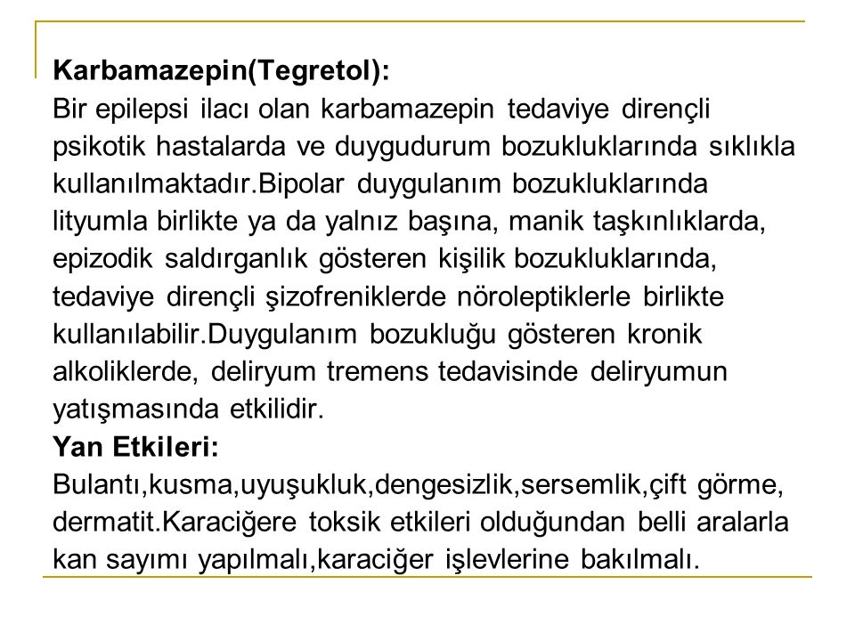 Karbamazepin(Tegretol):