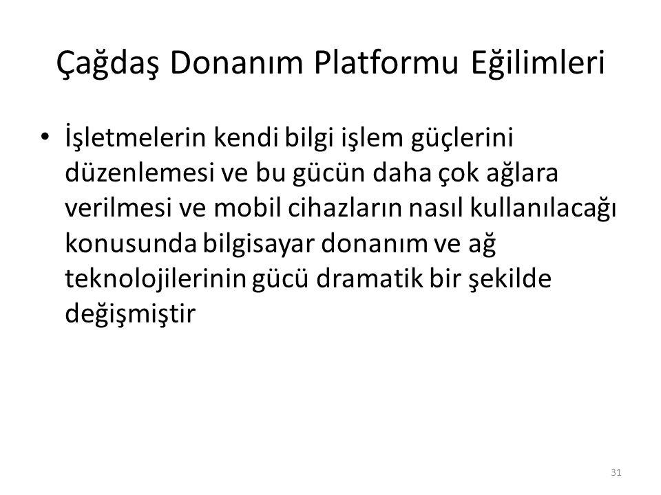 Çağdaş Donanım Platformu Eğilimleri