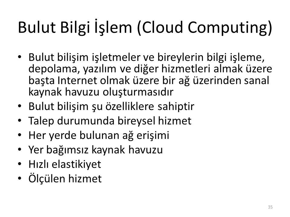 Bulut Bilgi İşlem (Cloud Computing)