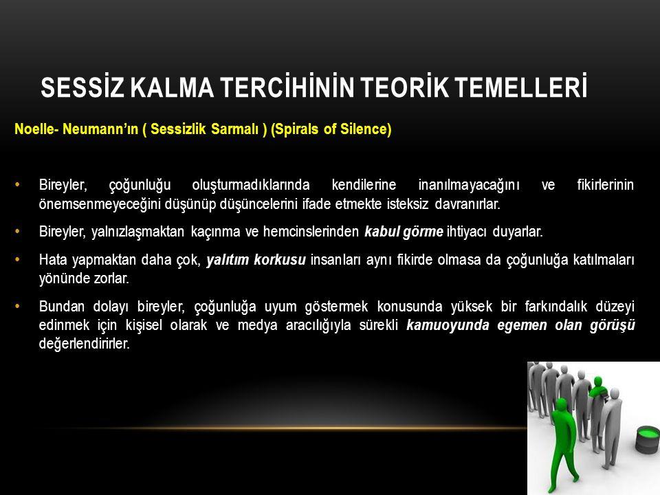 SESSİZ KALMA TERCİHİNİN TEORİK TEMELLERİ