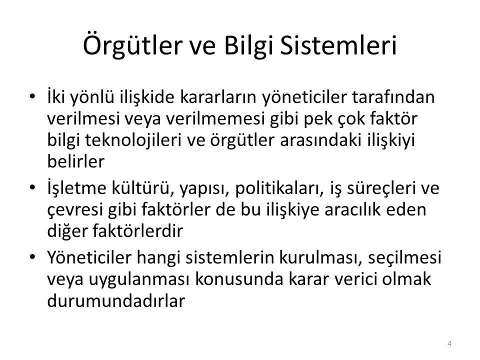 Örgütler ve Bilgi Sistemleri