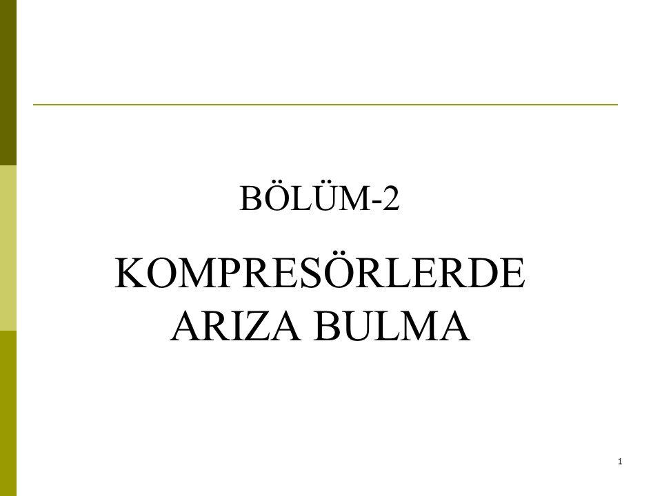KOMPRESÖRLERDE ARIZA BULMA