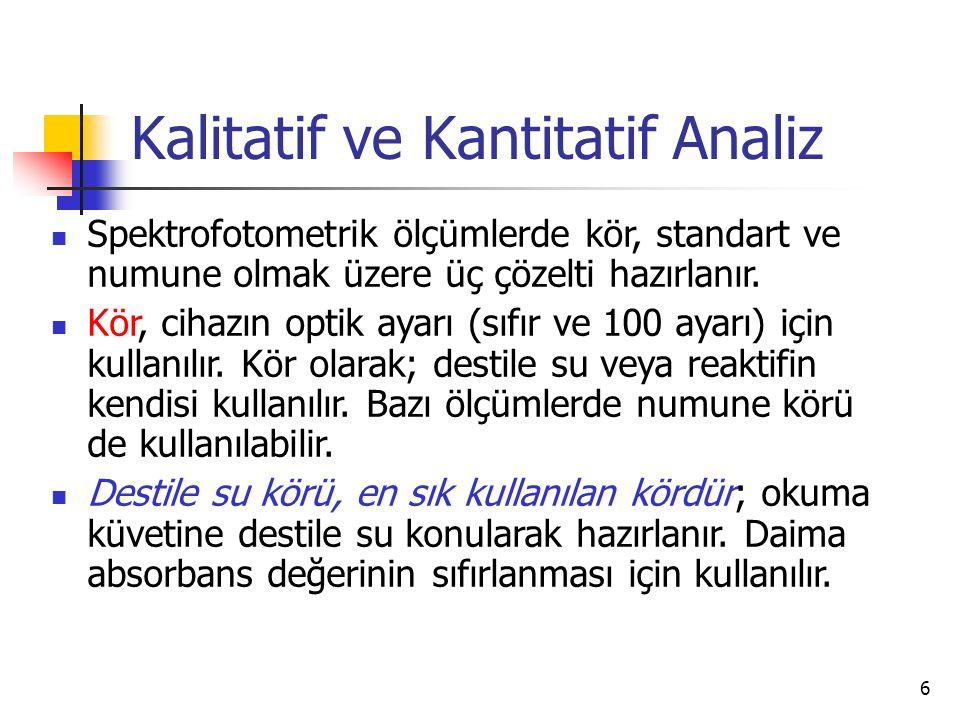 Kalitatif ve Kantitatif Analiz