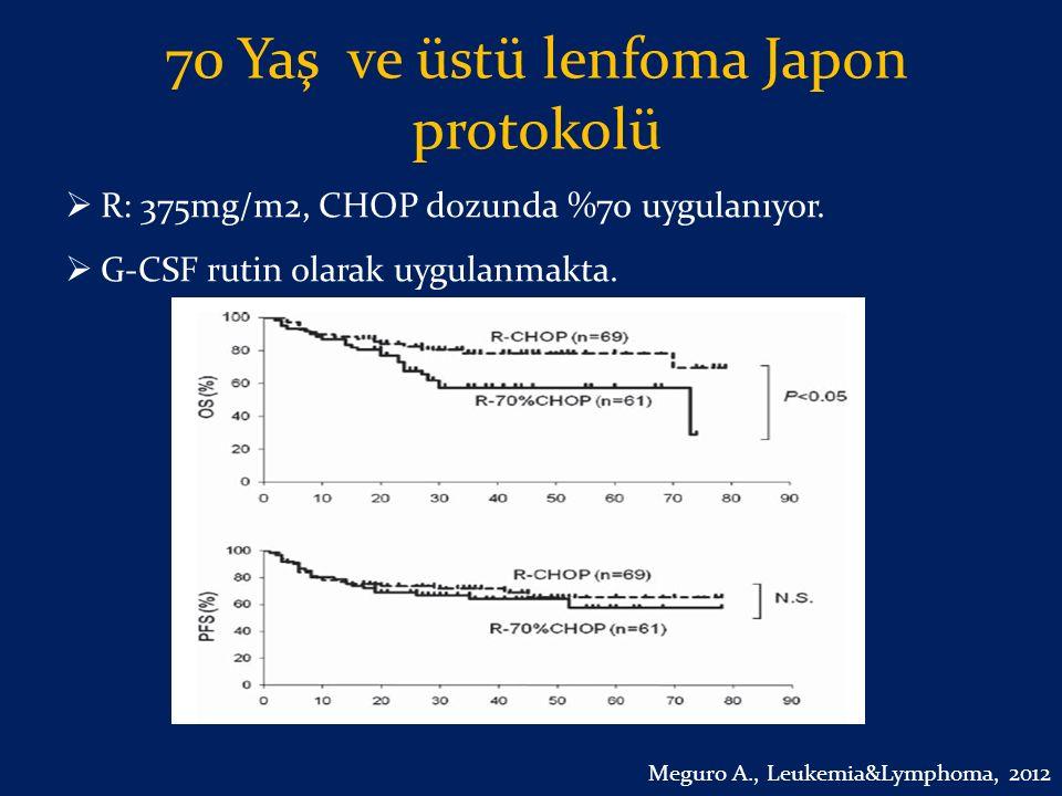 70 Yaş ve üstü lenfoma Japon protokolü