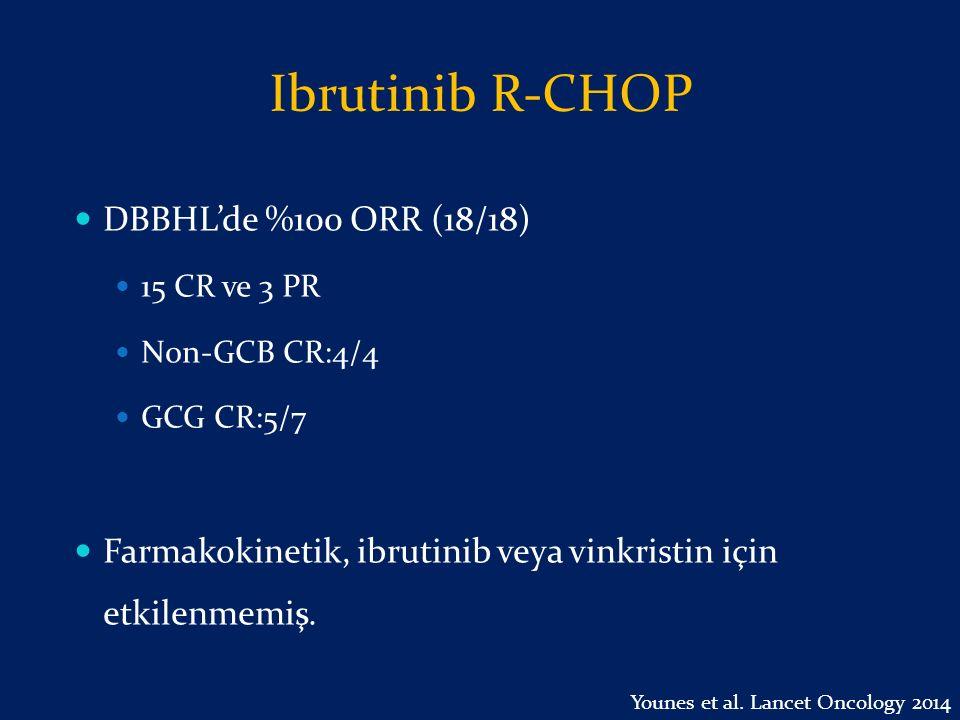 Ibrutinib R-CHOP DBBHL'de %100 ORR (18/18)