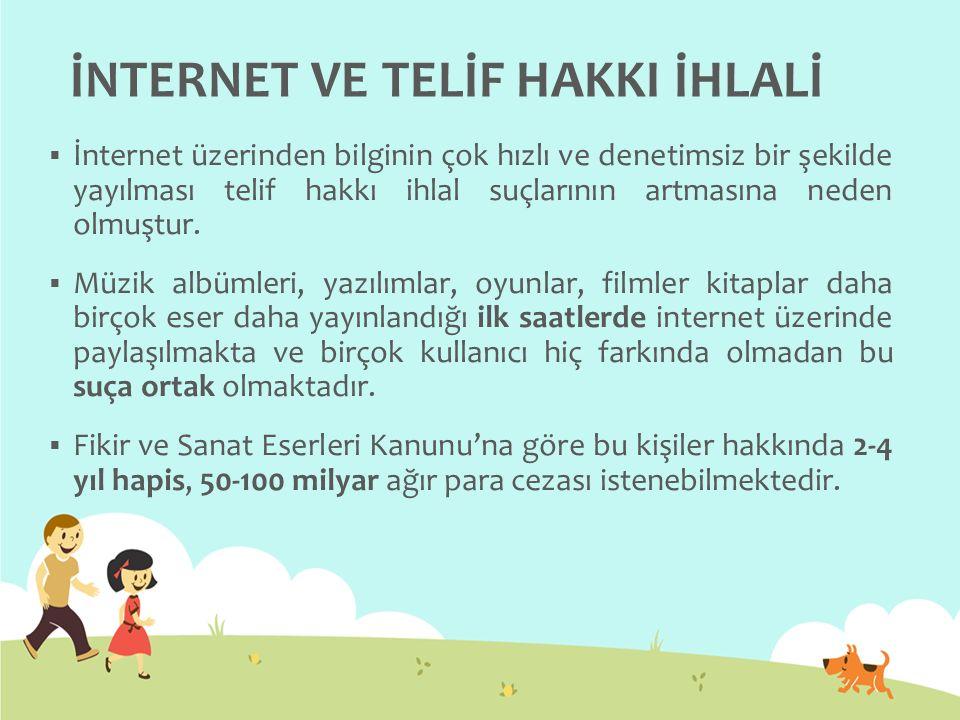 İNTERNET VE TELİF HAKKI İHLALİ