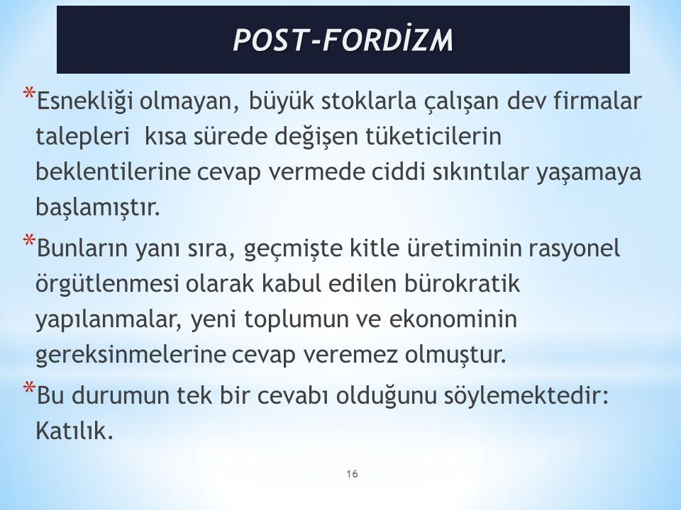 POST-FORDİZM