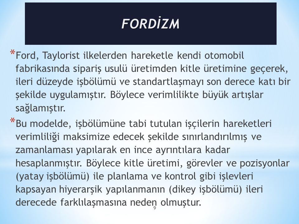 FORDİZM