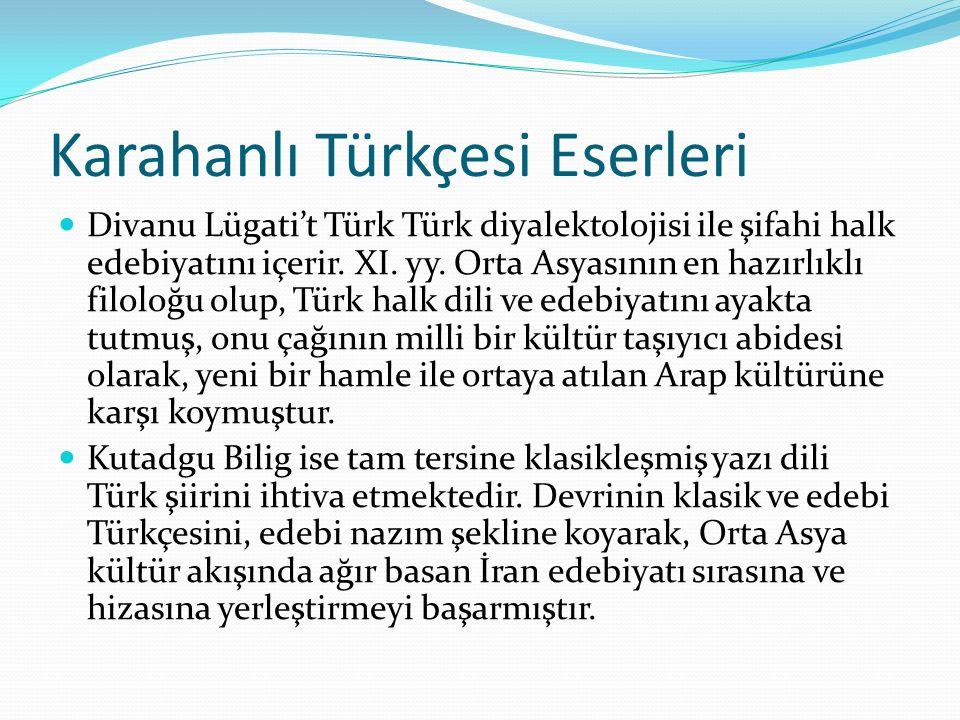Karahanlı Türkçesi Eserleri