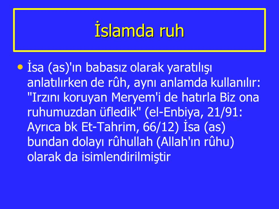 İslamda ruh