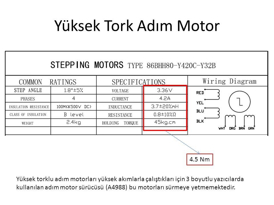 Yüksek Tork Adım Motor 4.5 Nm