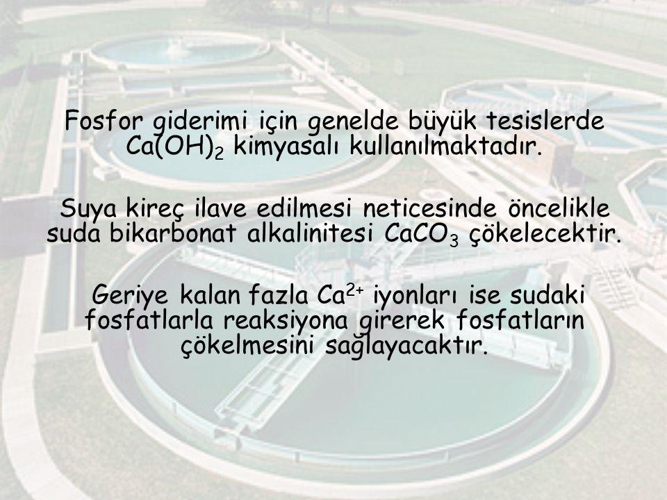 Fosfor giderimi için genelde büyük tesislerde Ca(OH)2 kimyasalı kullanılmaktadır.
