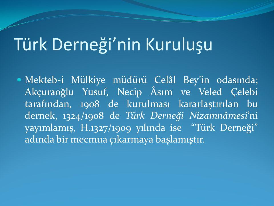 Türk Derneği'nin Kuruluşu