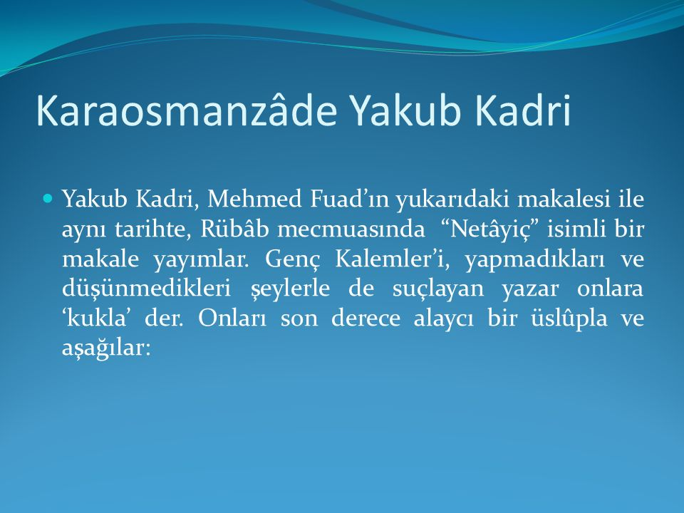 Karaosmanzâde Yakub Kadri