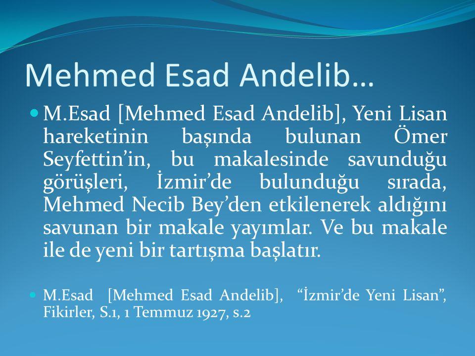 Mehmed Esad Andelib…