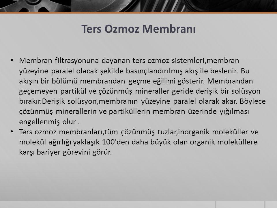 Ters Ozmoz Membranı