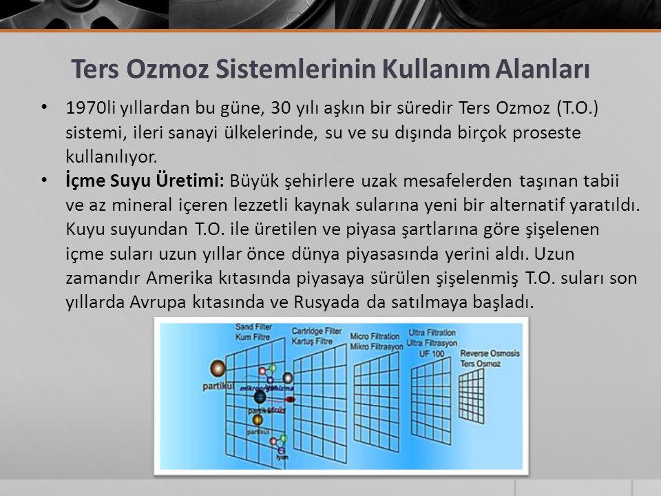 Ters Ozmoz Sistemlerinin Kullanım Alanları