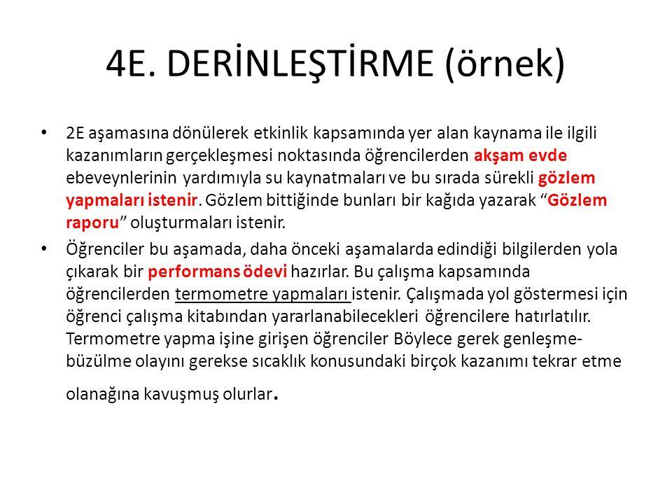4E. DERİNLEŞTİRME (örnek)